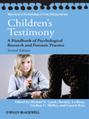 Children&#39;s Testimony (eBook): A Handbook of Psychological Research and Forensic Practice